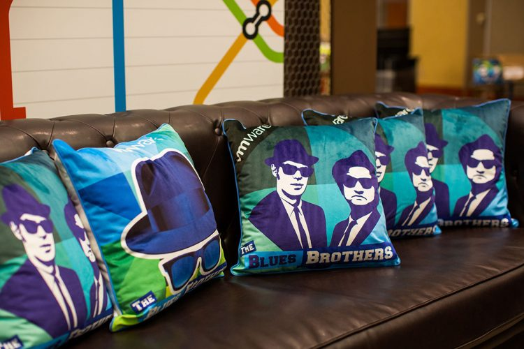 Blues Brothers décor for fun.
