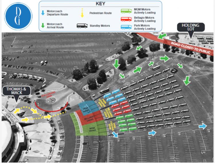 Map of Las Vegas parking lot