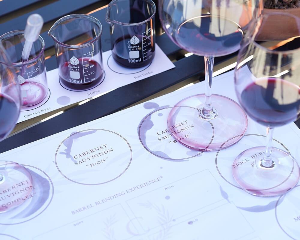 Learning the nuances of the Cabernet Sauvignon flavor experience.